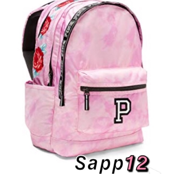 bbb77fdb7e87 🆕(RARE)PINK VS🌹Pink Tie Dye Roses Backpack 🎒 Boutique